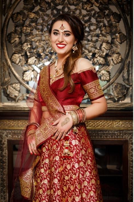 suknia orientalna czerwono-złota