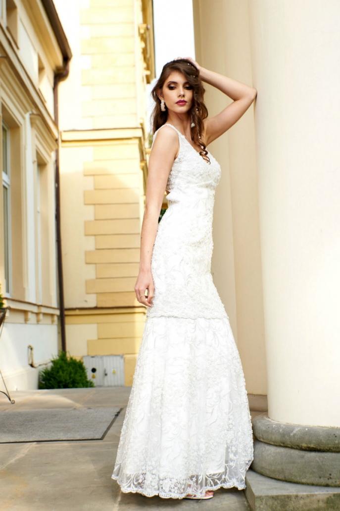 modelka w sukni Valentina